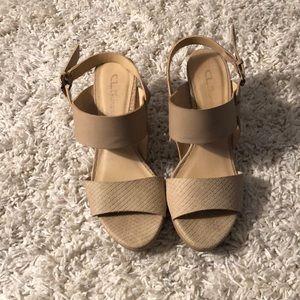 nude snakeskin heels